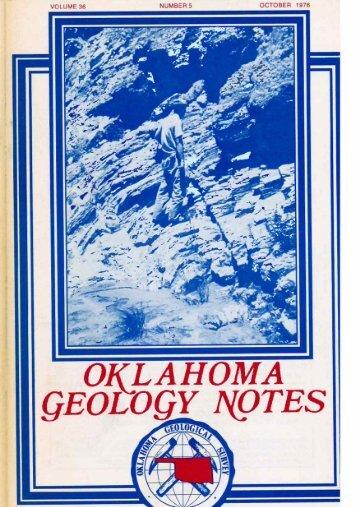 OCTOBER 1976 NUMBER 5 VOLUME 36 - Oklahoma Geological ...