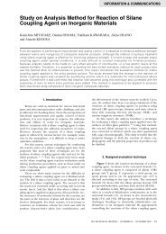 Study on Analysis Method for Reaction of Silane Coupling Agent on ...