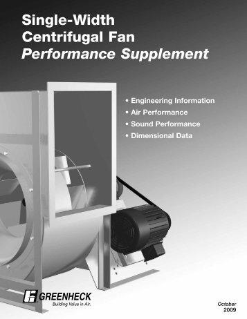 Single-Width Centrifugal Fan Performance Supplement - Greenheck