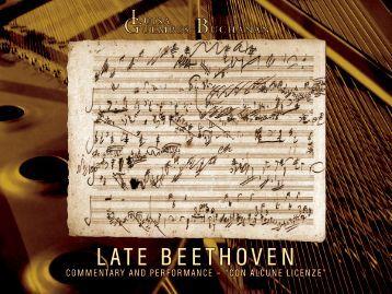 LATE BEETHOVEN LATE BEETHOVEN - Luisa Guembes-Buchanan