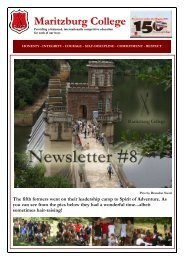Newsletter #8 - Maritzburg College