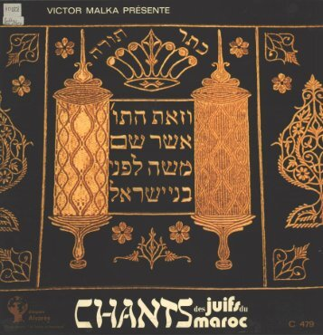 Page 1 Page 2 C. 479 @ CHANTS DES JUIFS DU MAROC Les ...