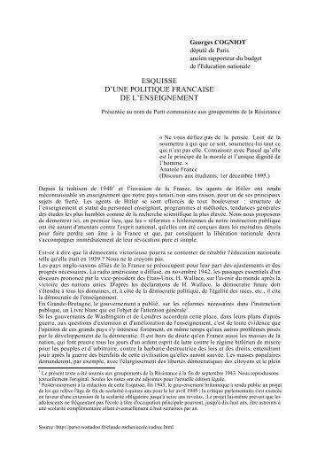esquisse d'une politique francaise de l ... - Claude ROCHET