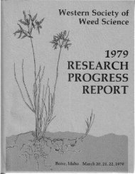 1979 - Western Society of Weed Science