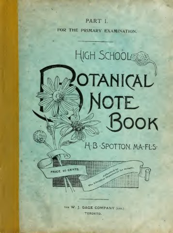 High School Botanical Note Book : Part I for the primary ... - Index of
