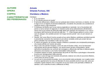 AUTORE Ariosto OPERA Orlando Furioso, XIX COPPIA Cloridano e ...