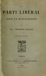 Le parti libéral sous la Restauration - University of Toronto Libraries