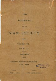 The Journal of the Siam Society Vol. VI, Part 1-3, 1909 - Khamkoo
