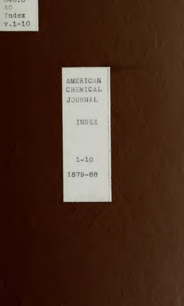 American chemical journal - University Library