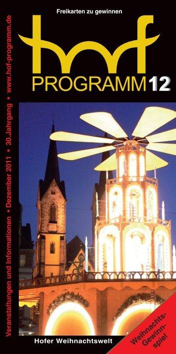 Dezember - Hof Programm