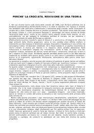 PERCHE' LA CROCIATA. REVISIONE DI UNA TEORIA - ENEC