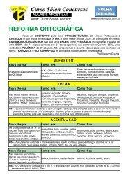 Curso Sólon Concursos REFORMA ORTOGRÁFICA - Pré - Concursos