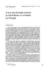 A luta pela libertação nacional na Guiné-Bissau e a ... - Análise Social