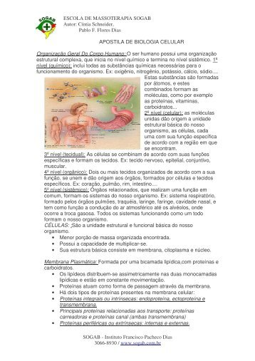 APOSTILA DE BIOLOGIA CELULAR - Sogab