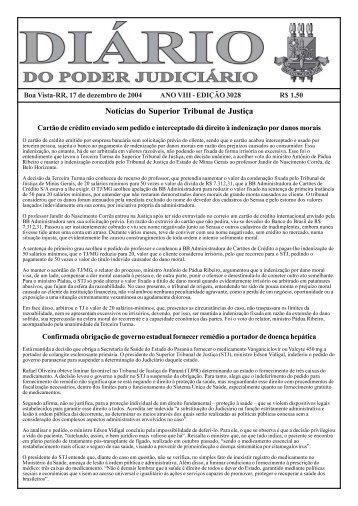 edição 3028.pmd - Tribunal de Justiça do Estado de Roraima