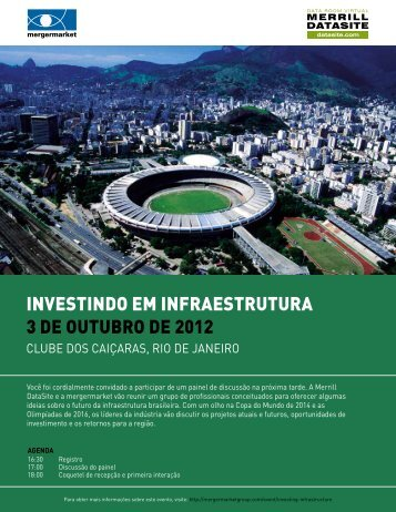 InvestIndo em Infraestrutura - Mergermarket