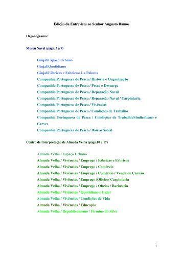 1 Edição da Entrevista ao Senhor Augusto Ramos Ginjal/Espaço ...