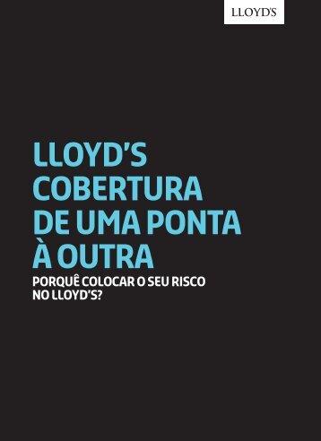 lloyd's COBERTURA DE UMA PONTA À OUTRA