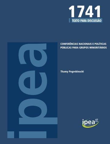 Conferências Nacionais e Políticas Públicas Para Grupos ... - Ipea