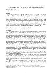 Fluxos migratórios e formação da rede urbana de Roraima