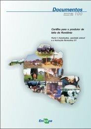 Cartilha para o produtor de leite de Rondônia - Parte I - Embrapa ...