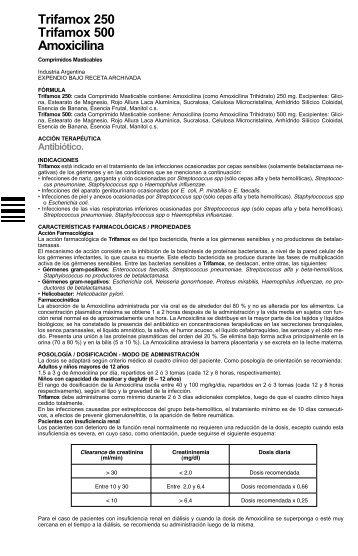Trifamox 500 amoxicilina para que sirve