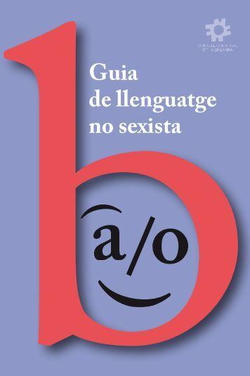 Guia de llenguatge no sexista - Consell Comarcal de la Segarra