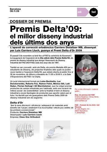 Premis Delta 2009 - FAD