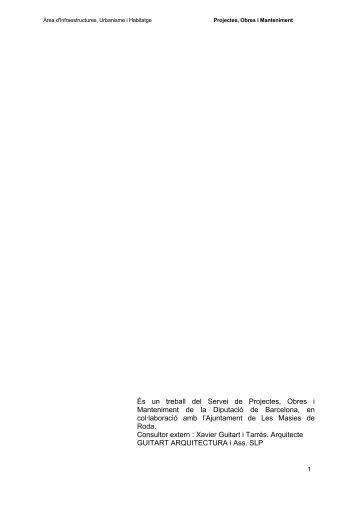Memòria i annexes-1 de 3 [pdf] - Ajuntament de les Masies de Roda