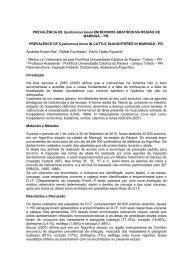 PREVALÊNCIA DE Cysticercus bovis EM BOVINOS ... - SOVERGS