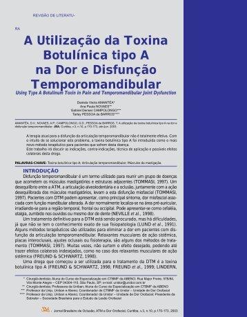 A Utilização da Toxina Botulínica tipo A na Dor e Disfunção ...