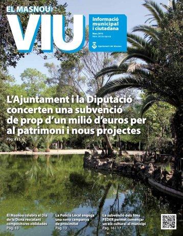 """El Masnou Viu"""" núm. 58 (març 2013) - Ajuntament del Masnou"""