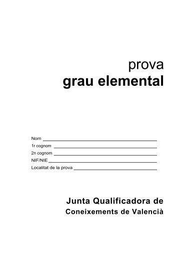 Prova 1P-2010 - Conselleria d'Educació, Cultura i Esport
