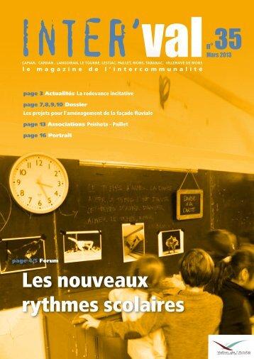 Les nouveaux rythmes scolaires - Communauté de communes ...