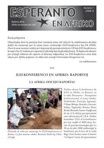 ILEI-konfErEnco En AfrIko: rAportoj - Esperanto en Afriko