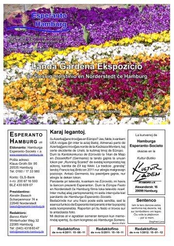 Landa Ĝardena Ekspozicio - Esperanto Hamburg