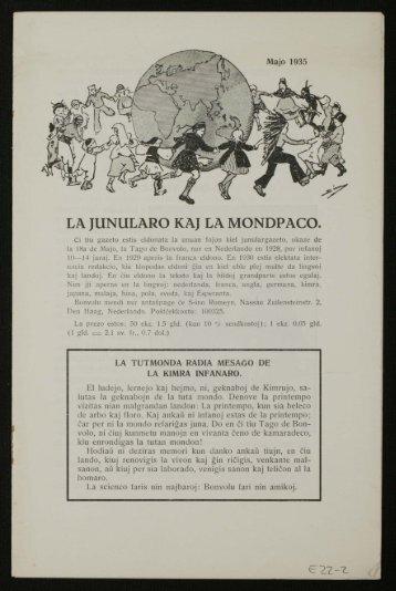 LA IUNULARO KA] LA MON DPACO. - Peace Palace Library
