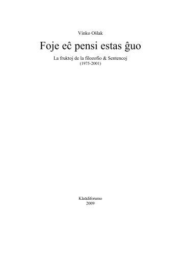 Oslak, Sentencoj - Kristana Misio en Esperanto