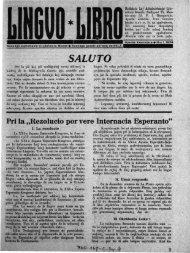 Lingvo Libro 1934 - Literatura Mondo