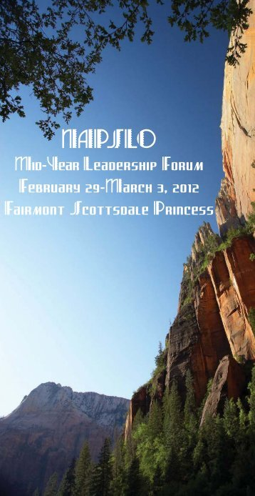 Click here to download the Program/Registration Booklet - NAPSLO