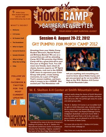 GET PUMPED FOR HOKIE CAMP 2012 - Hokie Camp - Virginia Tech