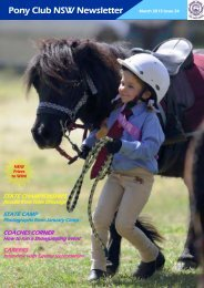 March 2013 Part 1 - Pony Club Association of NSW