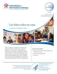 Los hijos solos en casa - Child Welfare Information Gateway