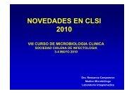 NOVEDADES EN CLSI 2010 - Sociedad Chilena de Infectología