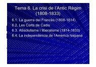 Tema 6. La crisi de l'Antic Règim (1808-1833)