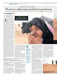 Els joves saharauis perden la paciència