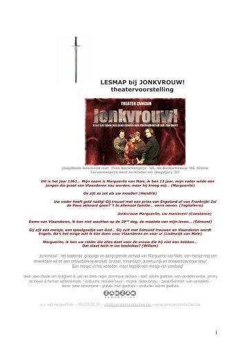 LESMAP bij JONKVROUW! theatervoorstelling
