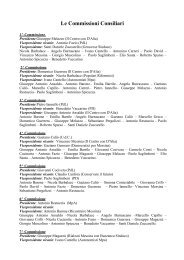 Le Commissioni Consiliari - Comune di Messina