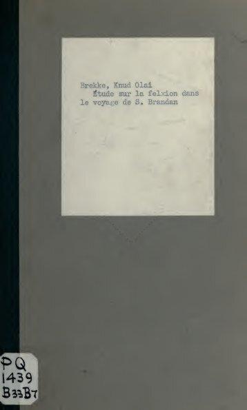 Etude sur la flexion dans le voyage de S. Brandan, poème anglo ...