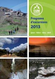 Programa d'excursions - Club Universitario de Montaña de Valencia